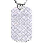 BRICK2 WHITE MARBLE & SAND (R) Dog Tag (Two Sides)