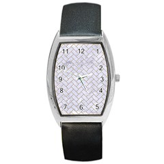 BRICK2 WHITE MARBLE & SAND (R) Barrel Style Metal Watch