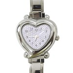 BRICK2 WHITE MARBLE & SAND (R) Heart Italian Charm Watch