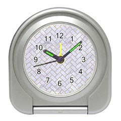 BRICK2 WHITE MARBLE & SAND (R) Travel Alarm Clocks