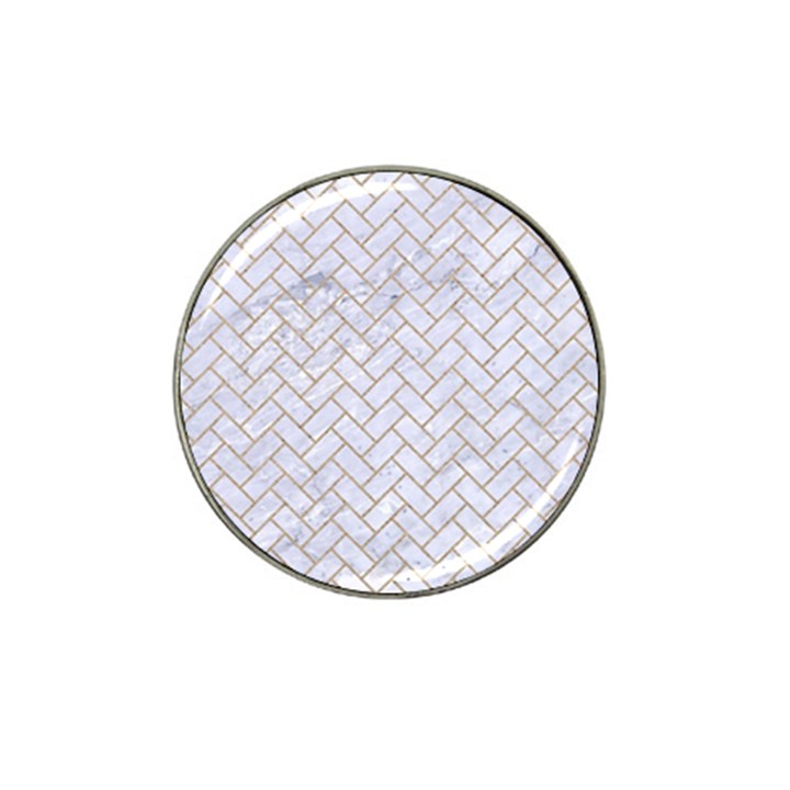 BRICK2 WHITE MARBLE & SAND (R) Hat Clip Ball Marker