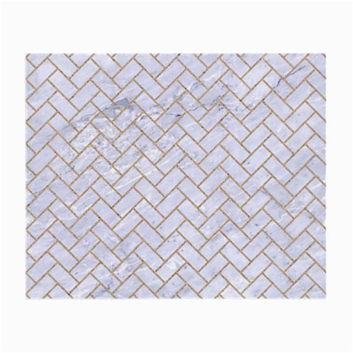 BRICK2 WHITE MARBLE & SAND (R) Small Glasses Cloth