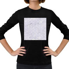 BRICK2 WHITE MARBLE & SAND (R) Women s Long Sleeve Dark T-Shirts