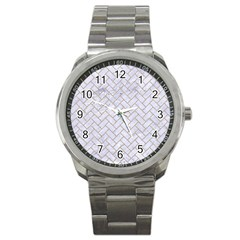 BRICK2 WHITE MARBLE & SAND (R) Sport Metal Watch