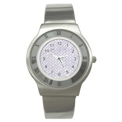 BRICK2 WHITE MARBLE & SAND (R) Stainless Steel Watch