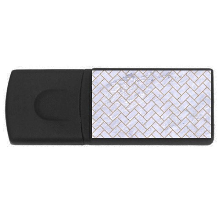 BRICK2 WHITE MARBLE & SAND (R) Rectangular USB Flash Drive
