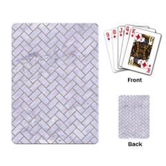 BRICK2 WHITE MARBLE & SAND (R) Playing Card