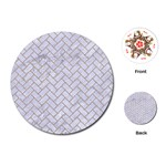 BRICK2 WHITE MARBLE & SAND (R) Playing Cards (Round)  Front