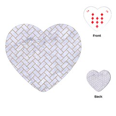 BRICK2 WHITE MARBLE & SAND (R) Playing Cards (Heart)