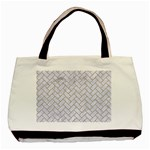 BRICK2 WHITE MARBLE & SAND (R) Basic Tote Bag Front