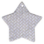 BRICK2 WHITE MARBLE & SAND (R) Star Ornament (Two Sides) Front