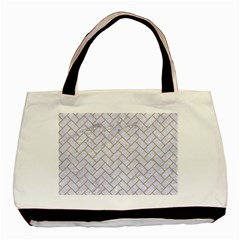 BRICK2 WHITE MARBLE & SAND (R) Basic Tote Bag (Two Sides)