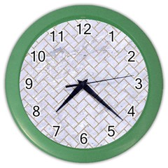 BRICK2 WHITE MARBLE & SAND (R) Color Wall Clocks