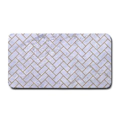 BRICK2 WHITE MARBLE & SAND (R) Medium Bar Mats
