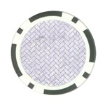 BRICK2 WHITE MARBLE & SAND (R) Poker Chip Card Guard Front