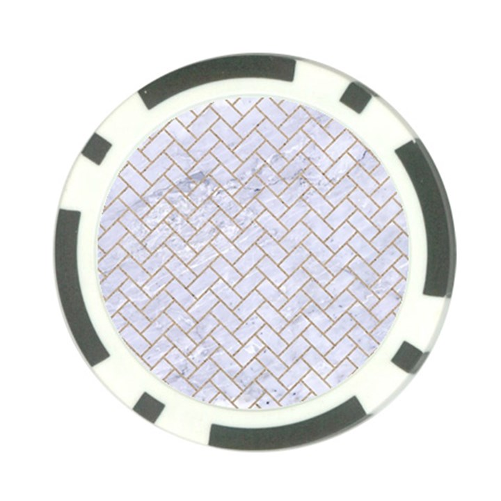 BRICK2 WHITE MARBLE & SAND (R) Poker Chip Card Guard