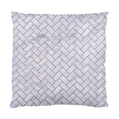 Brick2 White Marble & Sand (r) Standard Cushion Case (two Sides) by trendistuff
