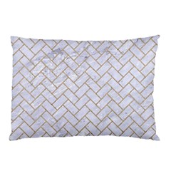 BRICK2 WHITE MARBLE & SAND (R) Pillow Case