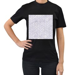 BRICK2 WHITE MARBLE & SAND (R) Women s T-Shirt (Black)