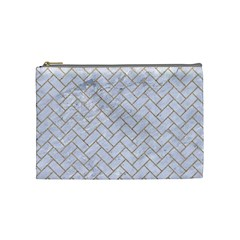 BRICK2 WHITE MARBLE & SAND (R) Cosmetic Bag (Medium)