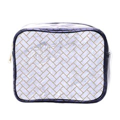 BRICK2 WHITE MARBLE & SAND (R) Mini Toiletries Bags