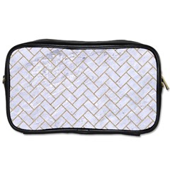 BRICK2 WHITE MARBLE & SAND (R) Toiletries Bags 2-Side