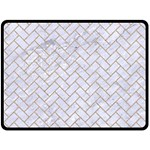 BRICK2 WHITE MARBLE & SAND (R) Fleece Blanket (Large)  80 x60 Blanket Front