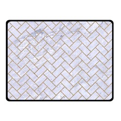 BRICK2 WHITE MARBLE & SAND (R) Fleece Blanket (Small)
