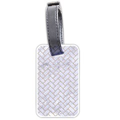 BRICK2 WHITE MARBLE & SAND (R) Luggage Tags (One Side)