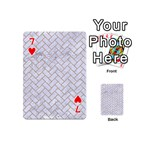 BRICK2 WHITE MARBLE & SAND (R) Playing Cards 54 (Mini)  Front - Heart7