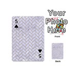 BRICK2 WHITE MARBLE & SAND (R) Playing Cards 54 (Mini)  Front - Spade5