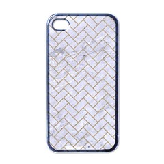 Brick2 White Marble & Sand (r) Apple Iphone 4 Case (black) by trendistuff