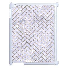 BRICK2 WHITE MARBLE & SAND (R) Apple iPad 2 Case (White)