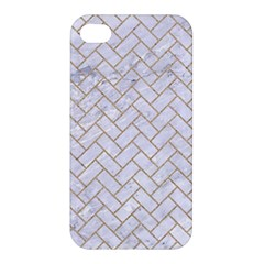 BRICK2 WHITE MARBLE & SAND (R) Apple iPhone 4/4S Hardshell Case