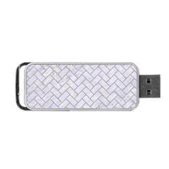 BRICK2 WHITE MARBLE & SAND (R) Portable USB Flash (One Side)