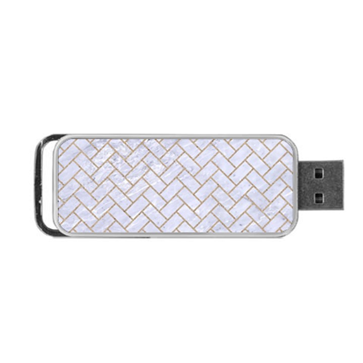 BRICK2 WHITE MARBLE & SAND (R) Portable USB Flash (One Side)