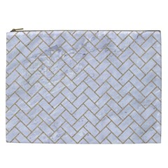 BRICK2 WHITE MARBLE & SAND (R) Cosmetic Bag (XXL)