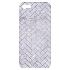 BRICK2 WHITE MARBLE & SAND (R) Apple iPhone 5 Hardshell Case