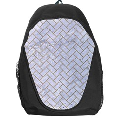 BRICK2 WHITE MARBLE & SAND (R) Backpack Bag