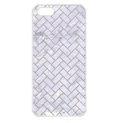 BRICK2 WHITE MARBLE & SAND (R) Apple iPhone 5 Seamless Case (White)