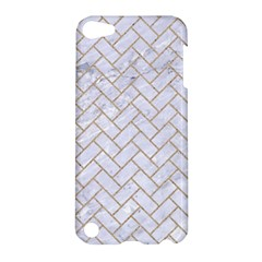 BRICK2 WHITE MARBLE & SAND (R) Apple iPod Touch 5 Hardshell Case