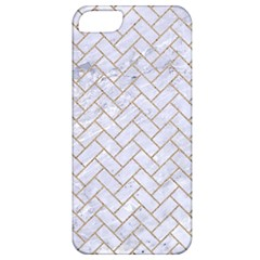BRICK2 WHITE MARBLE & SAND (R) Apple iPhone 5 Classic Hardshell Case