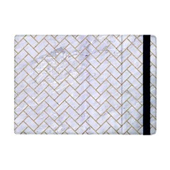 BRICK2 WHITE MARBLE & SAND (R) Apple iPad Mini Flip Case