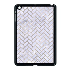 BRICK2 WHITE MARBLE & SAND (R) Apple iPad Mini Case (Black)