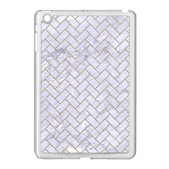 BRICK2 WHITE MARBLE & SAND (R) Apple iPad Mini Case (White)