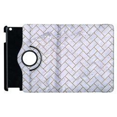 BRICK2 WHITE MARBLE & SAND (R) Apple iPad 2 Flip 360 Case