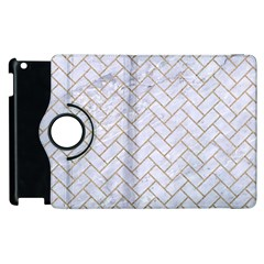 BRICK2 WHITE MARBLE & SAND (R) Apple iPad 3/4 Flip 360 Case