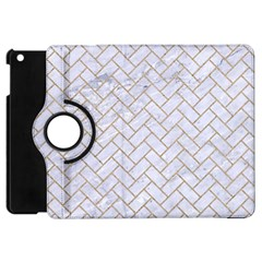 BRICK2 WHITE MARBLE & SAND (R) Apple iPad Mini Flip 360 Case