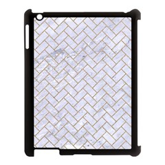 BRICK2 WHITE MARBLE & SAND (R) Apple iPad 3/4 Case (Black)