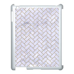 BRICK2 WHITE MARBLE & SAND (R) Apple iPad 3/4 Case (White)